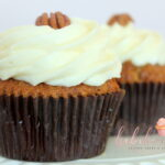 Carrot Cupcake: Carrot cake with cream cheese buttercream and topped with pecans.    Dozen: $44/dz